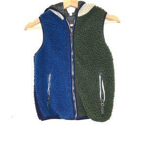 Hanna Andersson teddy bear fleece reversible vest